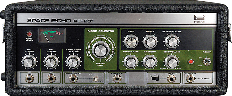 Cosmos Echo, the Helix model of a Roland® RE-201 Space Echo